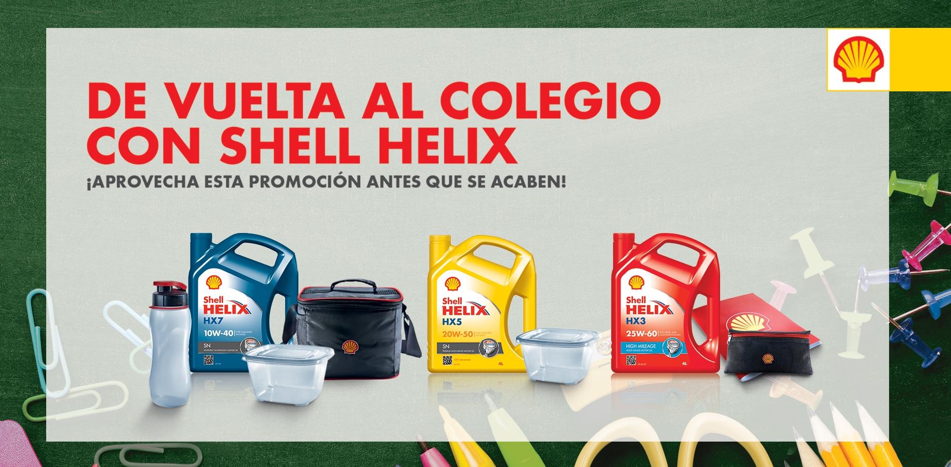 DE VUELTA AL COLEGIO CON SHELL HELIX