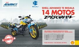 ¡Gánate una de las 14 motos Discover 125 ST que Shell Advance tiene para tí! (No Vigente)